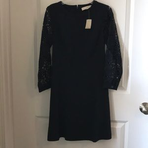 NWT navy a-line Loft dress